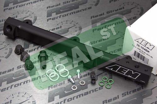AEM 25-104BK Black High Volume Fuel Rail